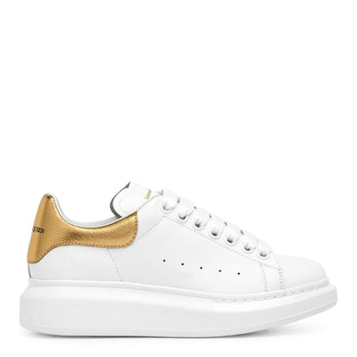 White and gold classic sneakers