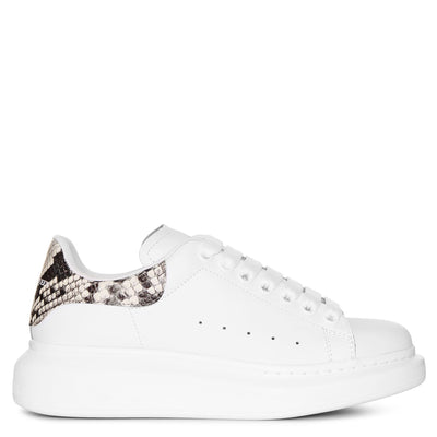 White and printed python classic sneakers