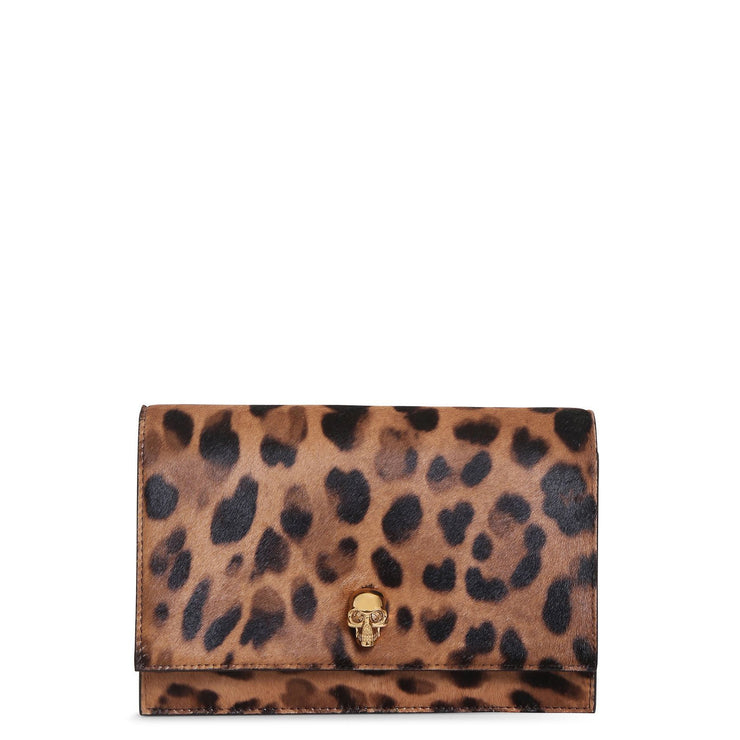 Leopard mini skull bag