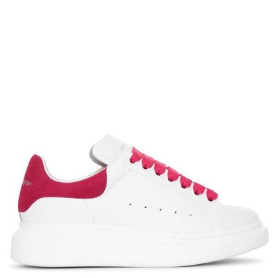 White and cocktail pink classic sneakers