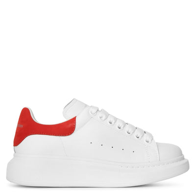 White and red classic sneakers