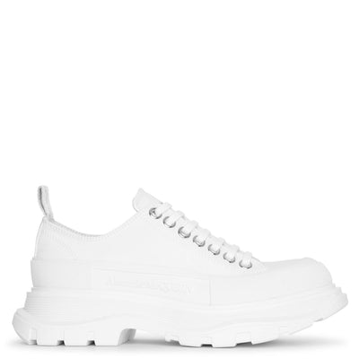 Tread slick white canvas lace-up