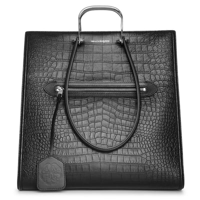 The Tall Story embossed leather tote bag