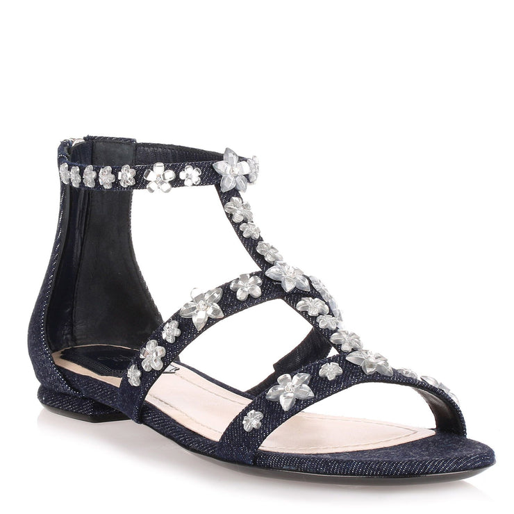 Garland Blue Denim flat sandal