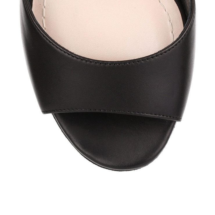 Stellar black 120 leather sandal