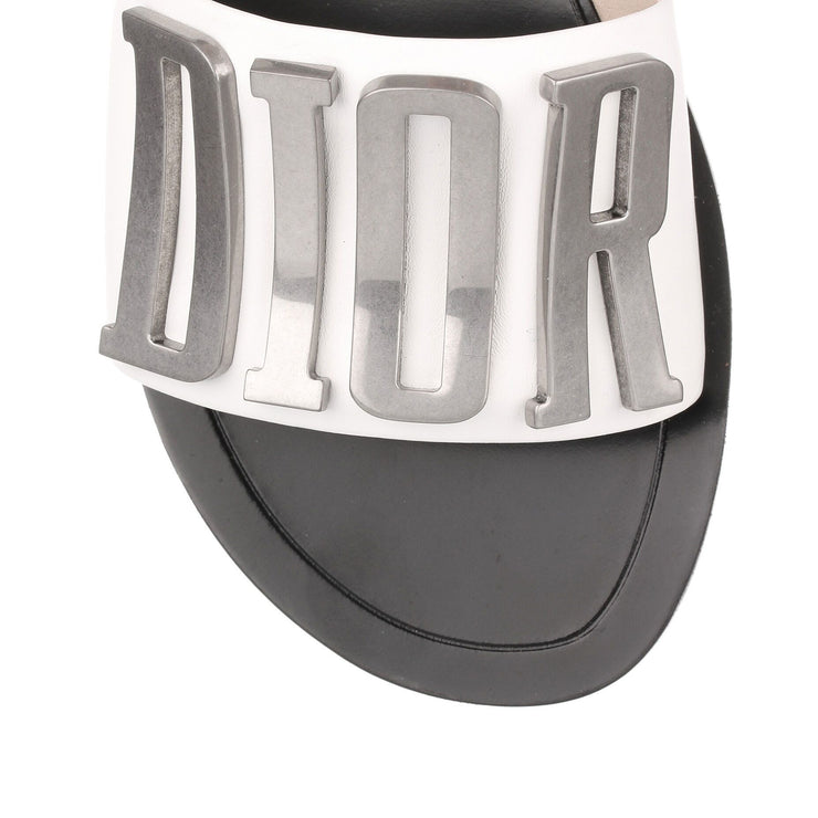 Diorevolution white leather slide