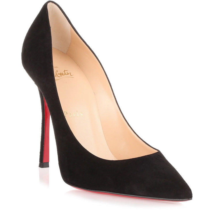 Decoltish 100 black suede pump