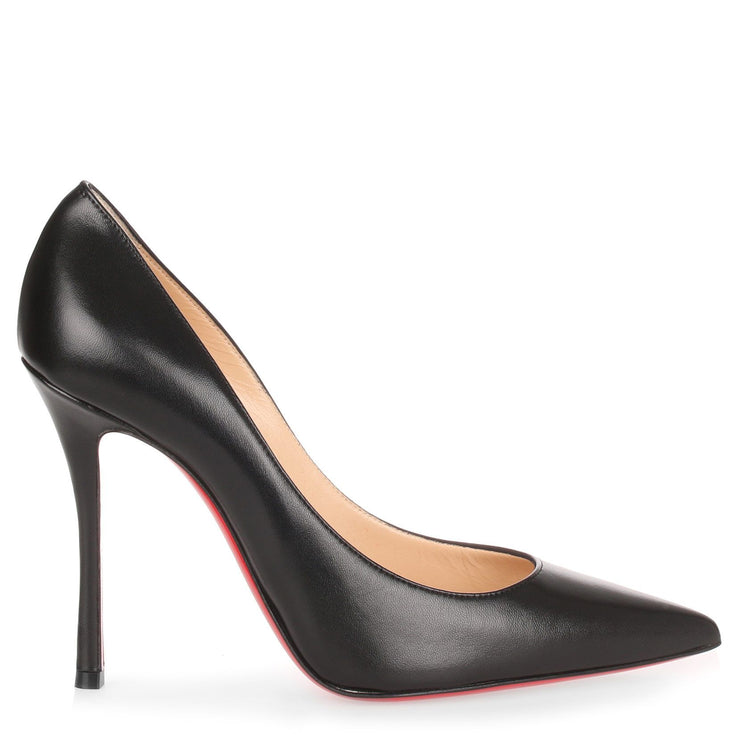 Decoltish 100 black nappa leather pump