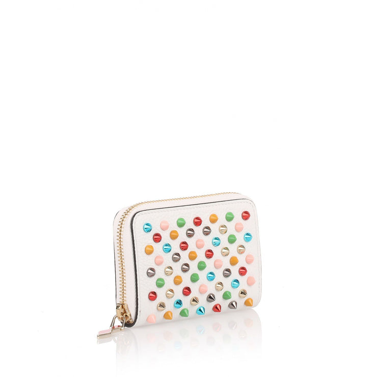 Panettone white multi-spikes coin purse