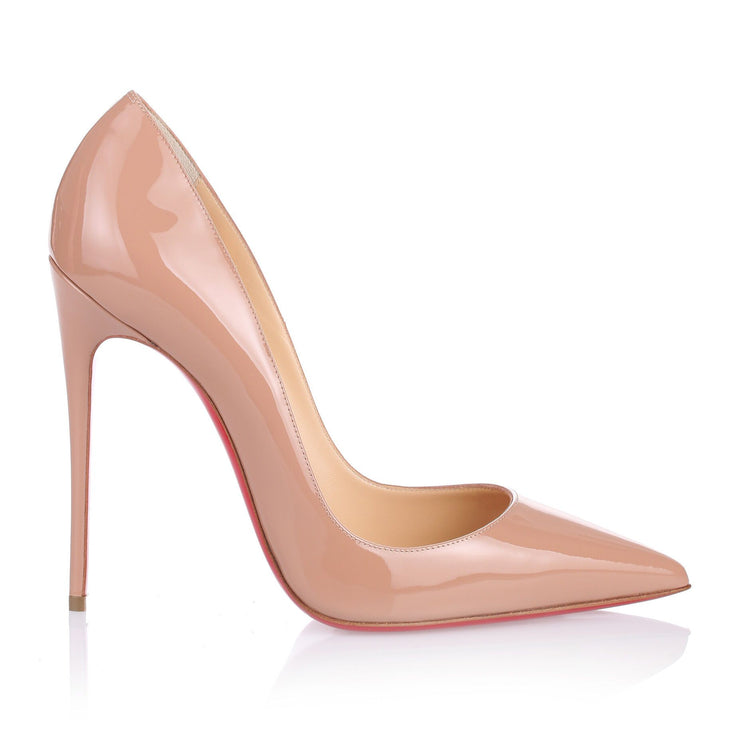 So Kate 120 nude patent pump