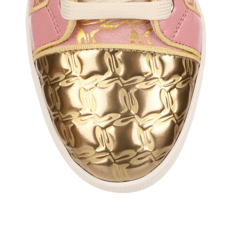 Bip Bip pink and gold suede sneaker
