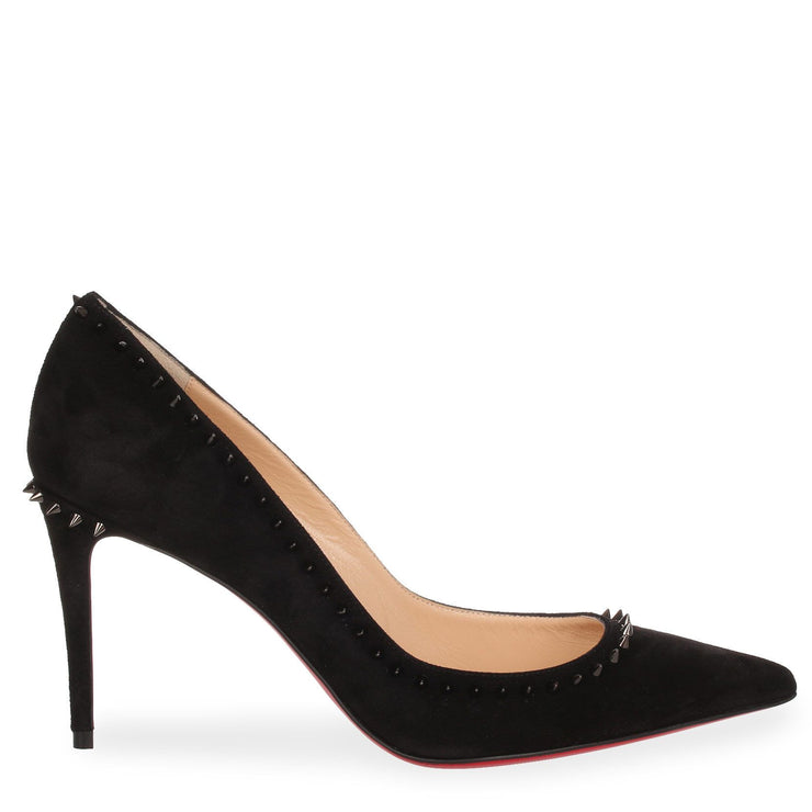 Anjalina 85 black suede spike pump