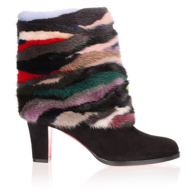 Alexandra 70 mink detailed bootie