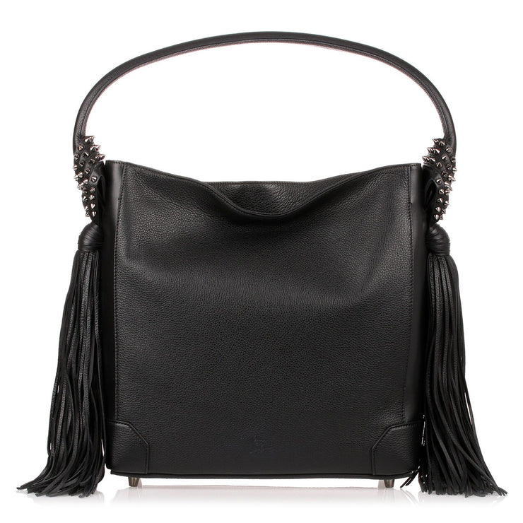 Eloise Hobo black leather bag