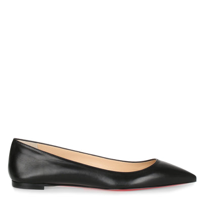 Ballalla black leather ballerina