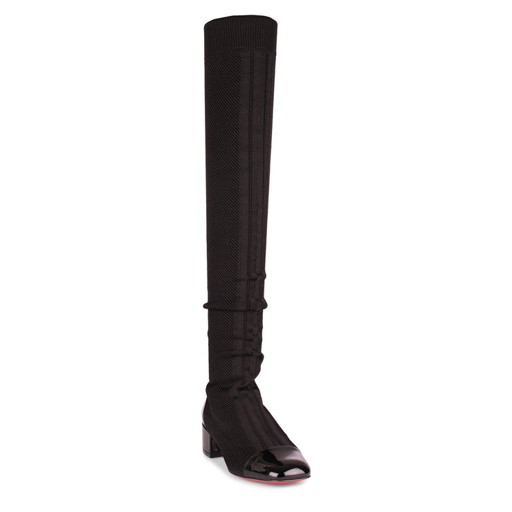 Trebiba black stretch knee boot