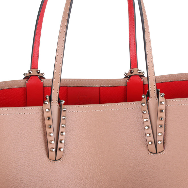 Cabata beige leather tote bag