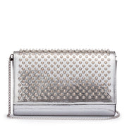 Paloma silver spikes clutch