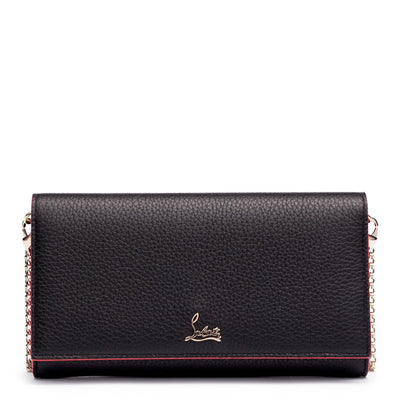 Boudoir black leather chain wallet