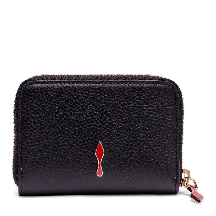 Panettone black leather coin purse