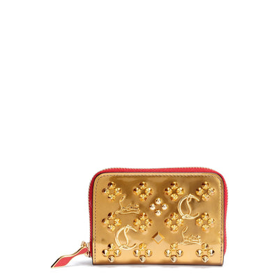 Panettone gold logo studded coin purse