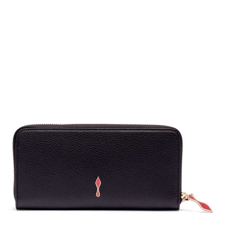 Panettone black leather wallet