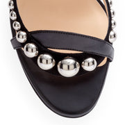Galeria 100 nappa shiny black sandals