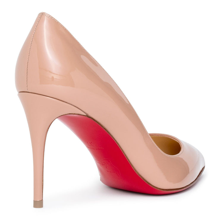 Pigalle Follies 85 beige patent pumps