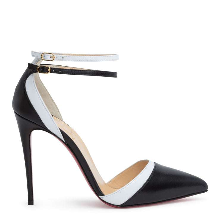 Uptown Double 100 black leather pumps