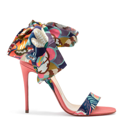 Sandale Du Desert 100 Multicolor Satin Sandals