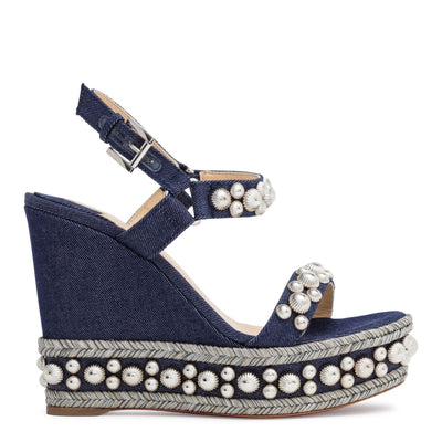 Rondaclou 120 Blue Denim Wedge Sandals