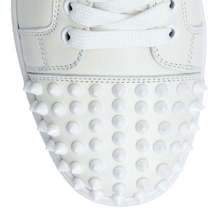 Vieira white leather spike sneakers
