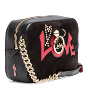 Rubylou Mini Black Suede And Leather Shoulder Bag
