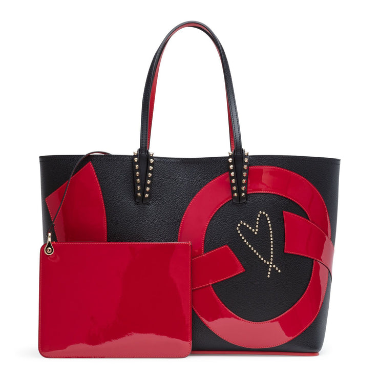Cabata love patent black tote bag