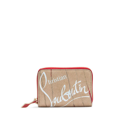 Panettone Beige Leather Coin Purse