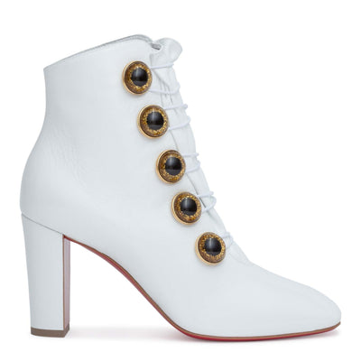Lady See 85 white patent boots