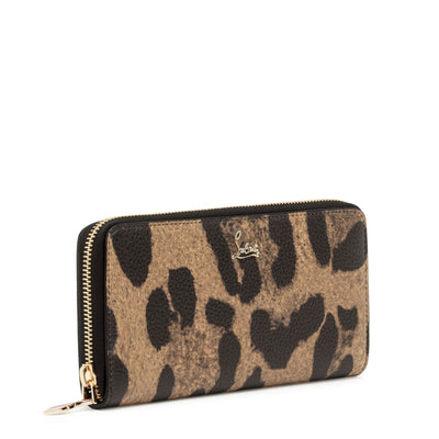 Panettone leopard print leather wallet