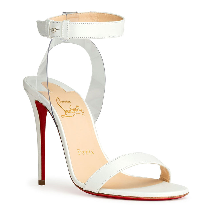 Jonatina 100 pvc and white leather sandals