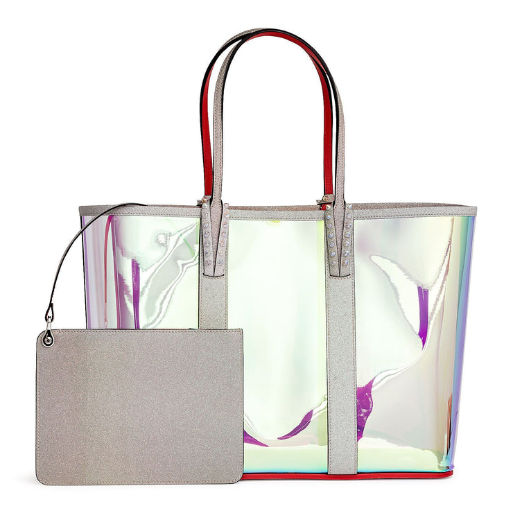 Cabata holographic vinyl and glitter tote