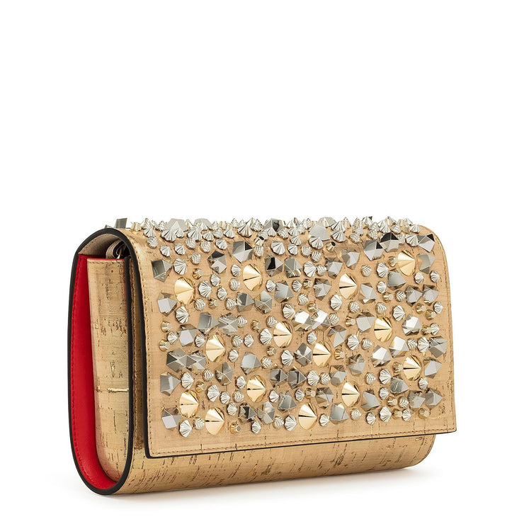 Paloma spikes mix gold clutch