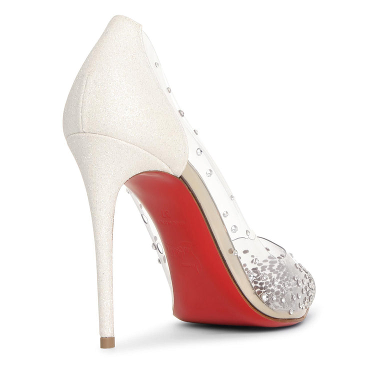 Degrastrass pvc 100 white gold pumps