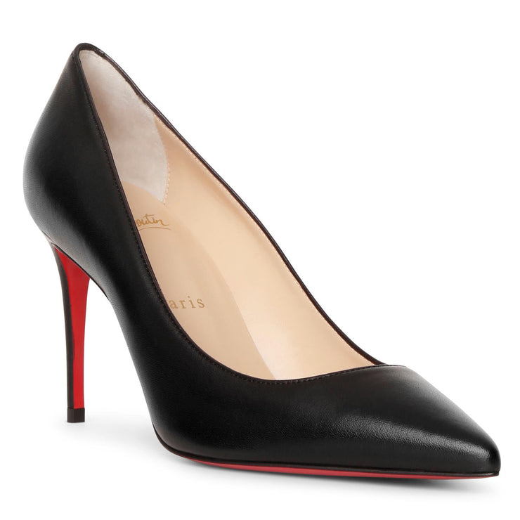 Kate 85 black leather pumps