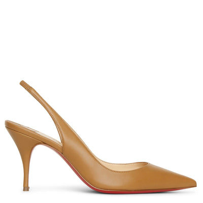 Clare Sling 80 cafe creme pumps