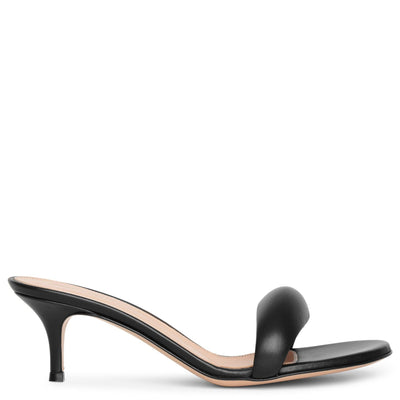 Bijoux 55 black leather sandals