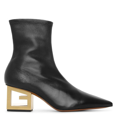 Triangle stretch leather boots