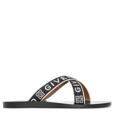 4G crossed leather sandals