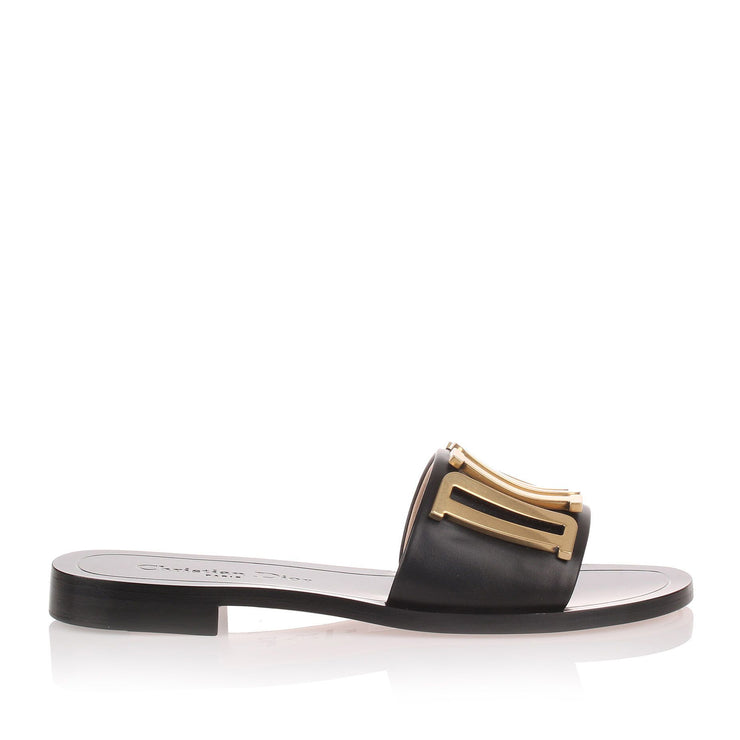 Diorevolution black leather slide