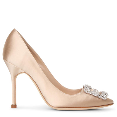 Hangisi 105 champagne satin pumps