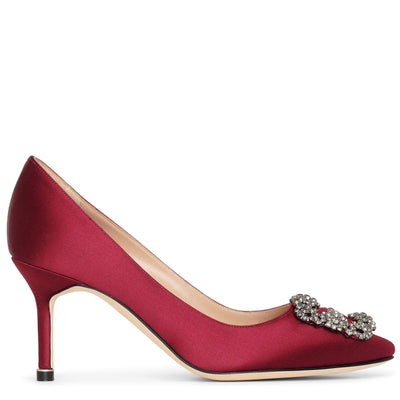 Hangisi 70 burgundy satin pumps