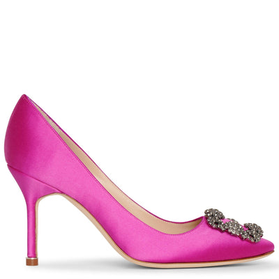 Hangisi 90 pink satin pumps